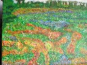 tableau paysages jachere fleurs paysage campagne : Jachère fleurie