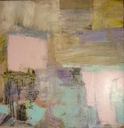mixte abstrait abstrait contemporain : pansements et cicatrices I