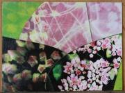 tableau fleurs fleur nature vert rose : Flower speed light