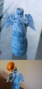 ceramique verre autres vase ange decoration objet : Vase Ailes d'ange bleu