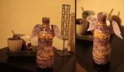 ceramique verre autres angel vase : Vase Ailes d'ange mauve
