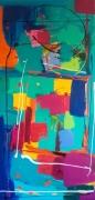 tableau abstrait : Basilic