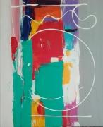 tableau abstrait abstrait gris : un autre chemin