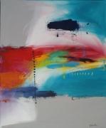 tableau abstrait : Ciel du midi