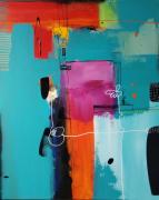 tableau abstrait : L'invitation du funambule