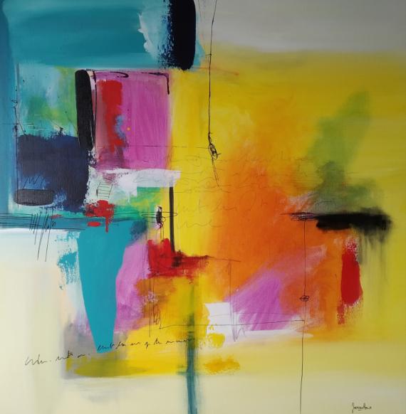 TABLEAU PEINTURE Abstrait Acrylique  - Écris, peins et vis