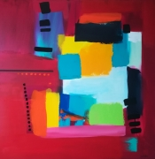 tableau abstrait : Recto verso