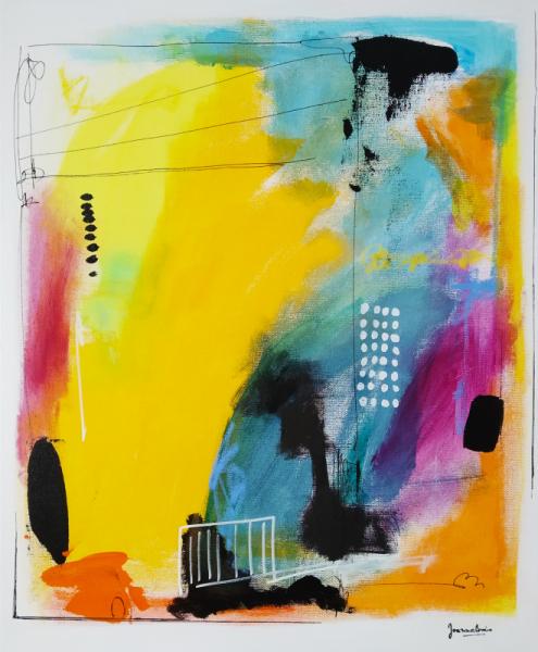 TABLEAU PEINTURE Abstrait Acrylique  - Composition en 4 temps numéro 2