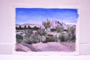 tableau paysages maroc paysage desert acrylique : Sud marocain