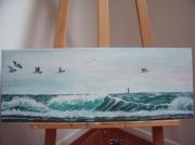 tableau marine bretagne marine acrylique peinture : LA BRETAGNE