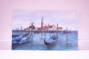 tableau paysages venise paysage bateau acrylique : Venise