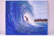 tableau : Hawaï, la vague de teahupoo