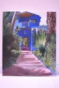 tableau : La maison bleue de Majorelle, Marrakech