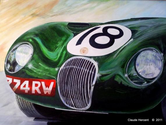 """AUTRES JAGUAR VOITURE DE COURSE 24 H DU MANS JAGUAR """"C"""" Sport  - JAGUAR C 1953"""