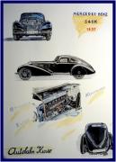 autres autres mercedes 540 k q mercedes 1937 automobile noire : carte postale mercedes 540 K