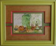 """tableau nature morte cuisine meridionale plats du sud cassoulet olives : """"LE SUD"""""""