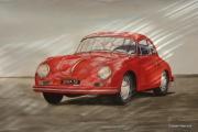 tableau sport porsche 356 carrera coupe : PORSCHE 356