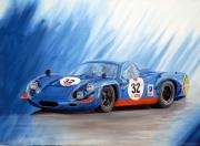 tableau sport alpine renault peinture voiture de course automobile de compet : ALPINE RENAULT A220