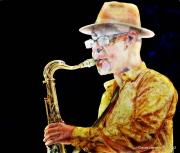 dessin personnages saxophone sax tenor schwarzbart jazz sax : Jacques SCHWARZ-BART