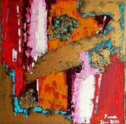 tableau abstrait abstrait huile peinture huile : Bonheur du jour