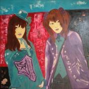 tableau personnages figuratif lolita huile peinture : Gothiques Lolita