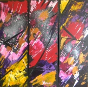 tableau abstrait abstrait acrylique peinture art : Oh ces questions dans mon esprit!