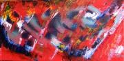 tableau abstrait abstrait huile peinture art : Explosion dans ma tête