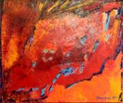 tableau abstrait abstrait huile expressionnisme art : Les tiroirs secrets de ma mémoire