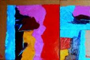 tableau abstrait abstrait expressionisme huile peinture : Impressions sur Mission