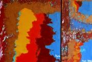 tableau abstrait abstrait expressionnisme huile peinture : Ce que m'a dit Castro