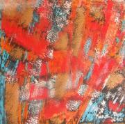 tableau abstrait abstrait peinture methodes mixtes noel : Temps de Noël