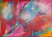 tableau abstrait abstrait acrylique peinture art : Sensations des Canaries