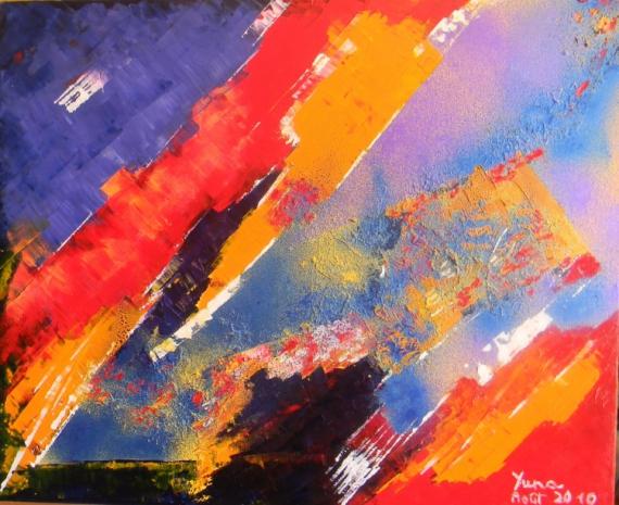 TABLEAU PEINTURE abstrait huile peinture art Abstrait Peinture a l'huile  - Etat d'âme