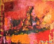 tableau abstrait abstrait expressionnisme huile art : Blues dans mon univers de couleurs
