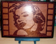 bois marqueterie personnages marilyn monroe cinema actrice portrait : Marilyn Monroe