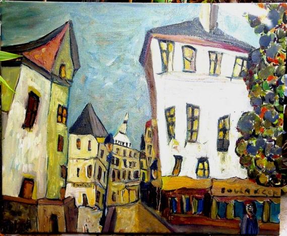 TABLEAU PEINTURE paris painting sacré coeur Villes Peinture a l'huile  - Paris Montmartre