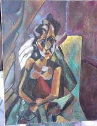 Copie Picasso femme au fauteuil 1909