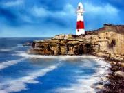 tableau marine ocean mer phare marine : Phre Dorset ( Angleterre
