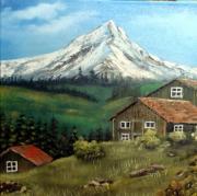 tableau : chalet de montagne