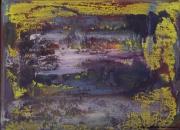tableau abstrait cire encaustique pigment toile : Cire sur Toile