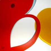 tableau abstrait minimaliste gaie blanc abstraction : A table C