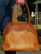 art textile mode sac cuir crocodile sellier : Sac  cuir DEAUVILLE