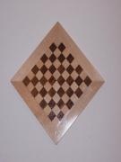 bois marqueterie : Echiquier pyramidal losange