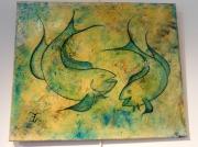 tableau animaux thon poisson japon : thon bleu