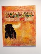 tableau autres matador taureau : Vers la foule