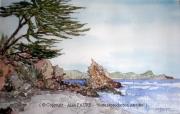 tableau paysages alain faure en peinture aquarelle musique : LA SOURCE DE LA PUCELLE