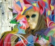 tableau personnages carnaval venise cappello alain faure en peint : CAPPELLO DI VENEZIA