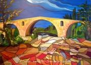 tableau paysages pont julien apt provence alain faure en peint : PONT JULIEN