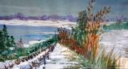 tableau paysages lac blanc vosges hiver alain faure en peint : LE LAC BLANC