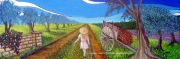 tableau scene de genre ecole ecole buissonniere provence enfance : L'ECOLE BUISSONNIERE